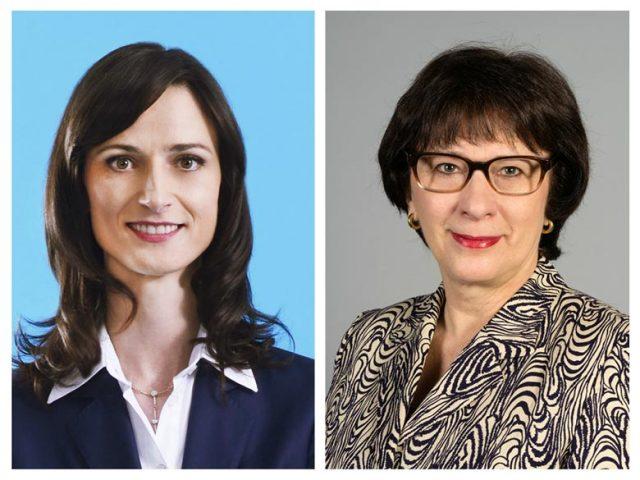 Мария Габриел и Сандра Калниете