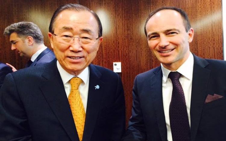 Андре Ковачев на среща с Бан Ки-Мун в Ню Йорк