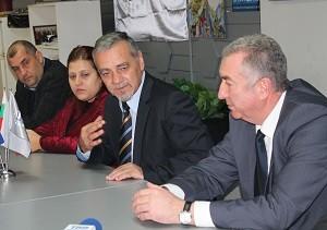 Владимир Уручев на среща с новоизбрания кмет на общинаВидин Огнян Ценков