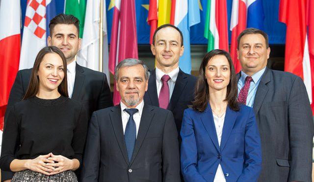 Bulgarian-MEPs Andrey Kovatchev,Andrey Novakov,Mariya Gabriel,Eva Paunova,Emil Radev,Vladimir Urutchev