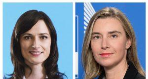 Mariya Gabriel and Federica Mogherini