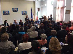Цецка Цачева - предизборна среща с жителите  на град Тетевен