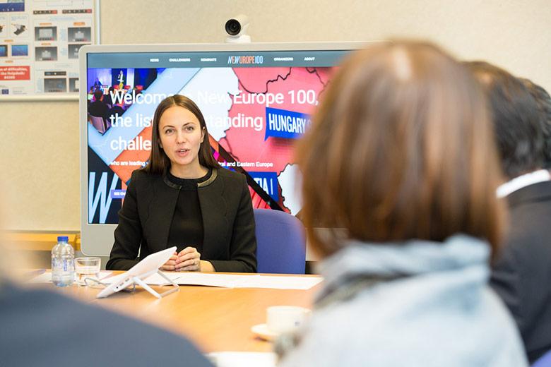 Паунова бе избрана в листата през 2015 г. заради работата й за развитието на дигитална Европа и усилията й за завършване на единния цифров пазар в ЕС
