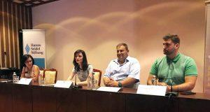 Emil Radev, Andrey Novakov and Mariya Gabriel