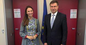 Eva Maydell and Valdis Dombrovskis