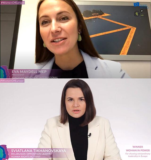 Eva Maydell Sviatlana Tikhanovskay winner WomenOfEurope
